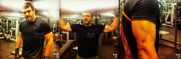 Ajith new look with six pack?