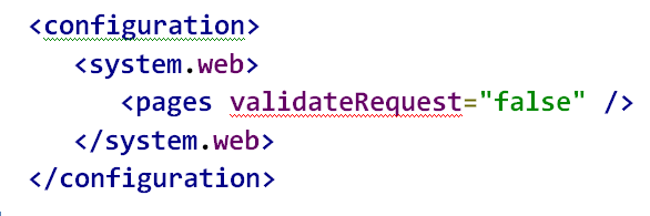 A potentially dangerous request.querystring value was detected from the client asp.net