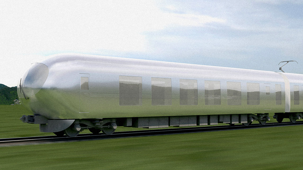 Invisible train in Japan from 2018