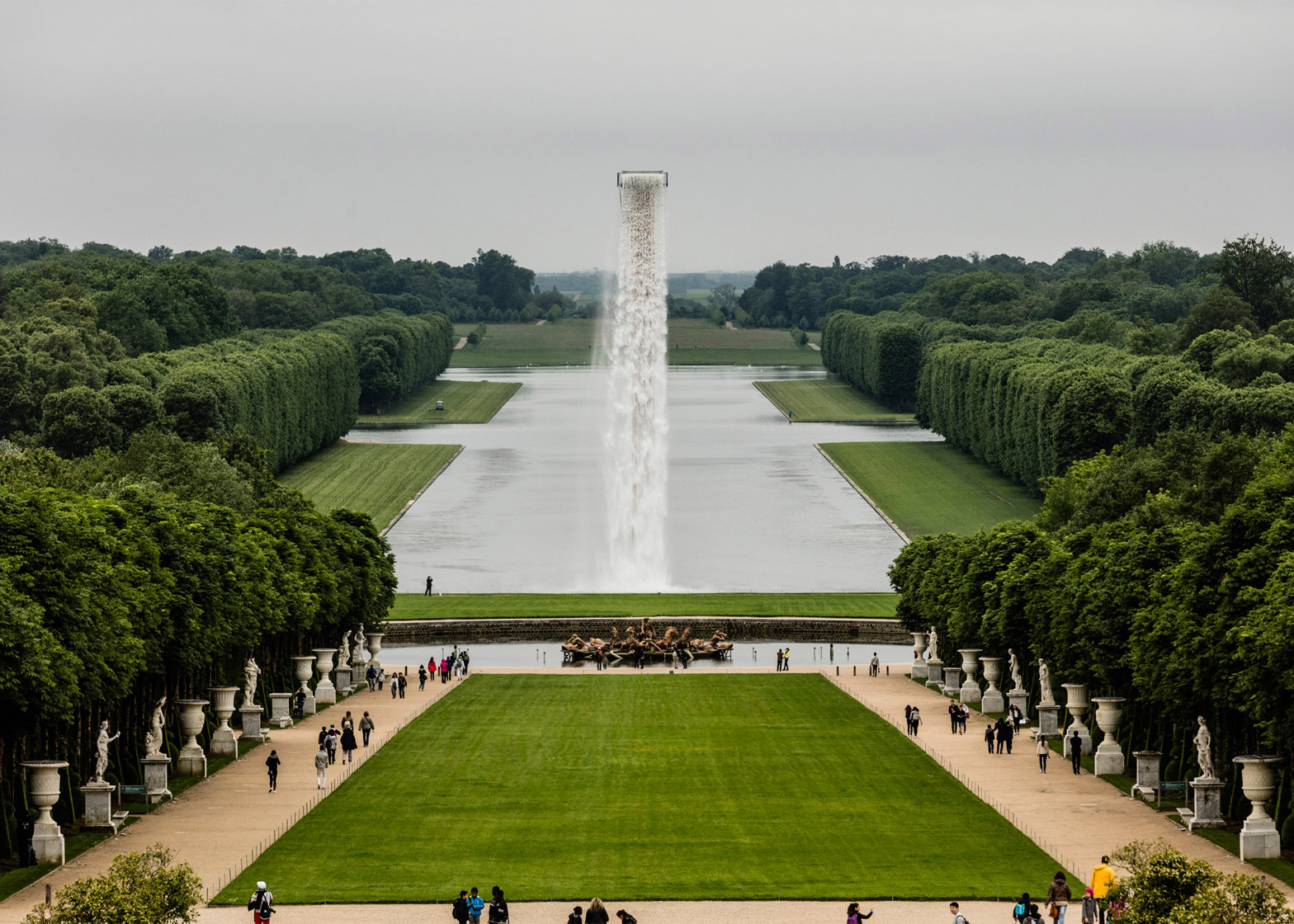 Fascinating Engineering Floating Waterfalls in Versailles Olafur Eliasson