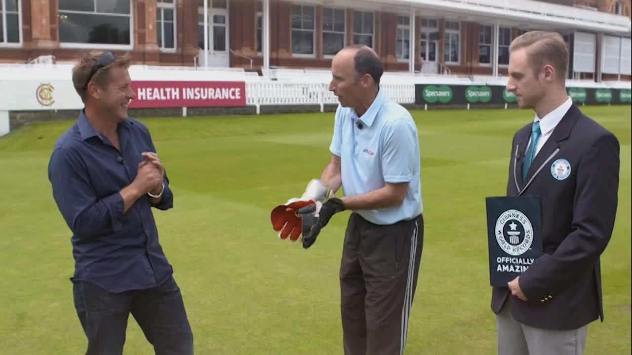 Nasser Hussain The Highest Catch of the Cricket Ball Guinness World Records Surfolks