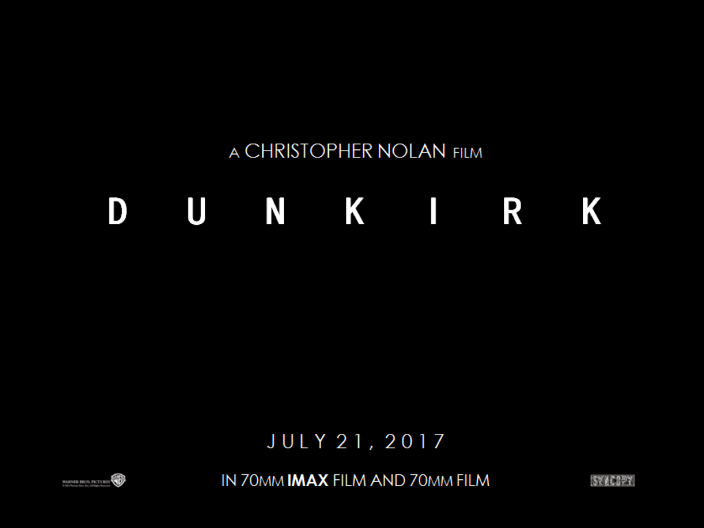DunKrik Teaser Trailer 2017 Christopher Nolan Warner Bros Movie Poster