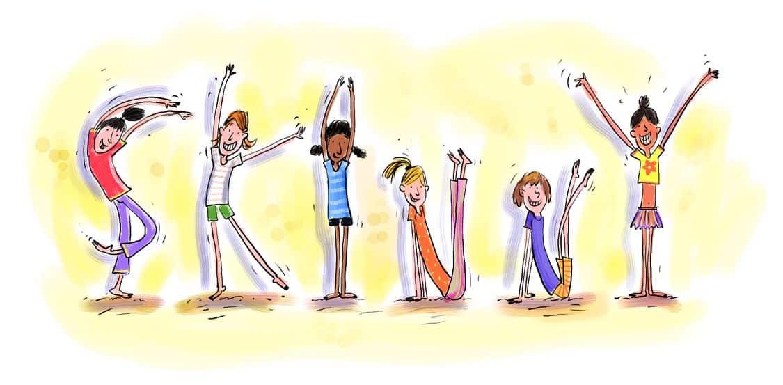 Warm up Exercises Cartoon