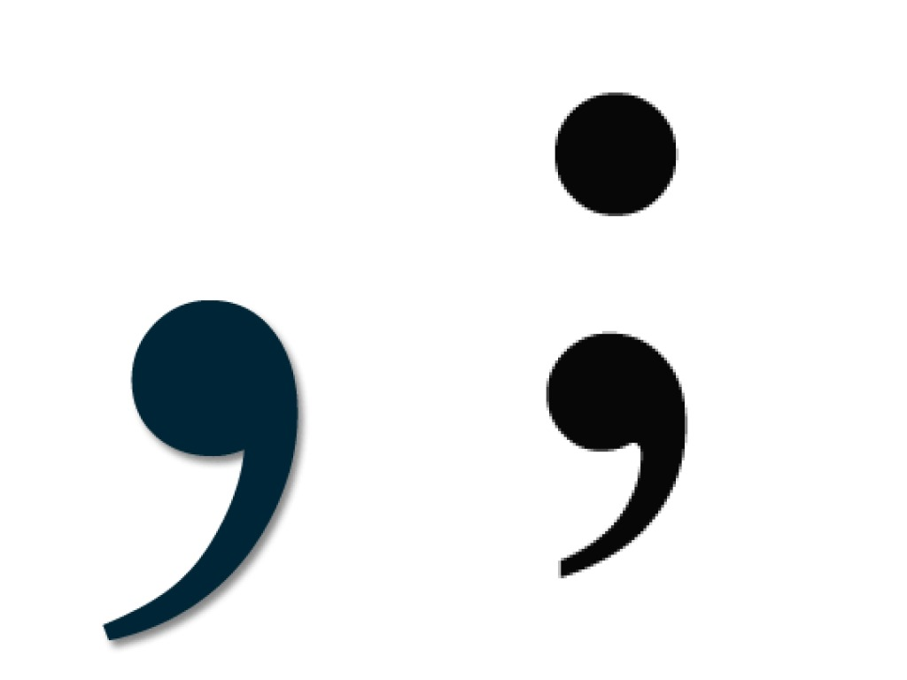 semicolon-and-comma-punctuation-markers-english-grammer