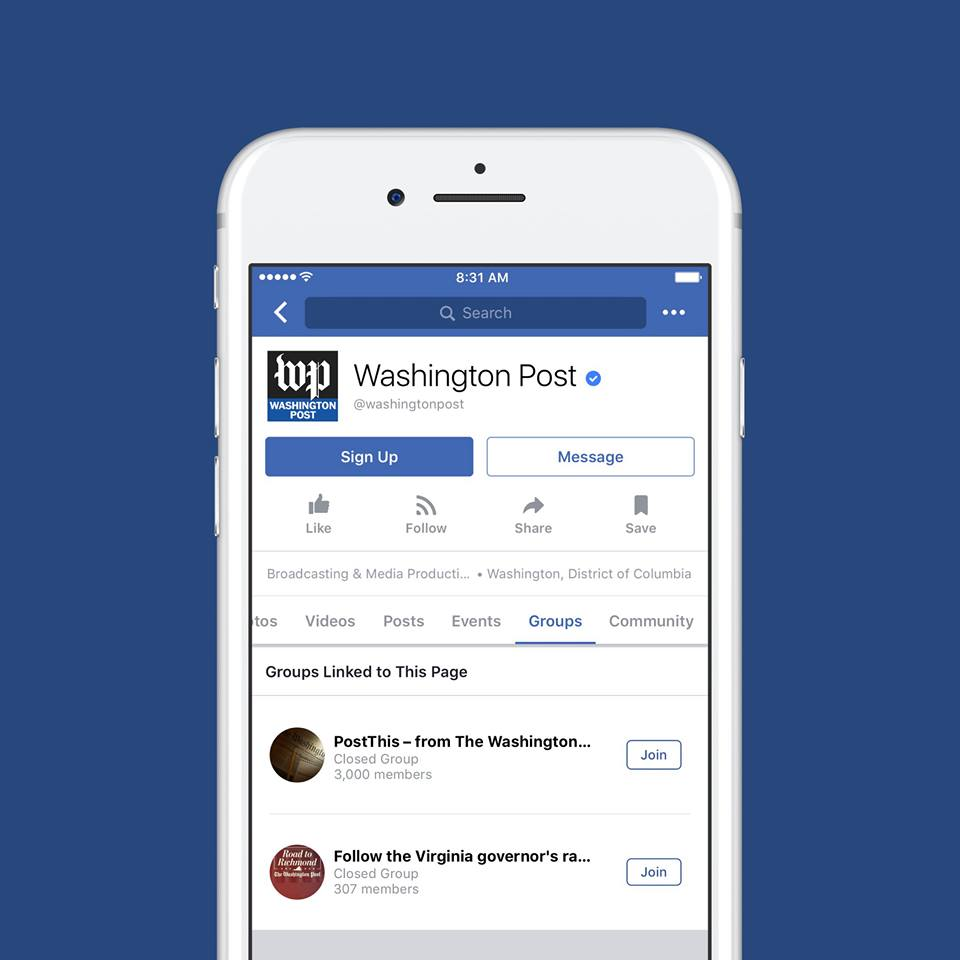 """FACEBOOK UNVEILS NEW FEATURE """"GROUPS FOR PAGES"""""""