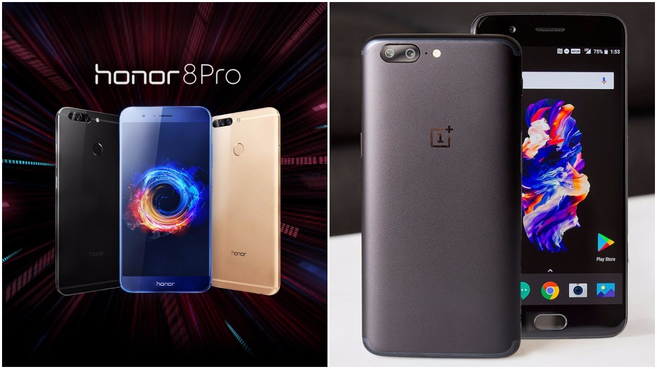 honor 8 pro vs OnePlus 5 Price Specification Features review