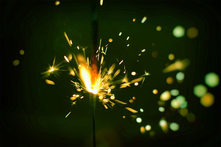 Colorful sparklers